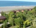 Пляж и коттеджи пансионата Сосновая роща